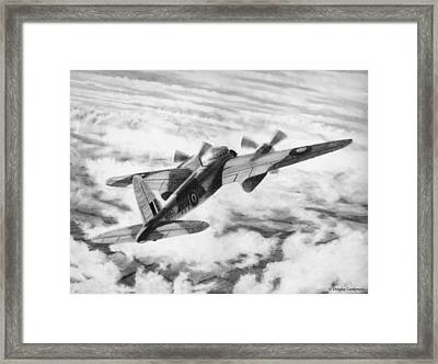 Mosquito Fighter Bomber Framed Print by Douglas Castleman