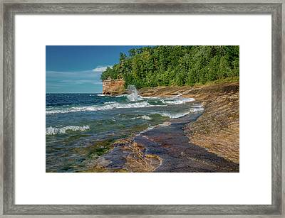 Mosquito Harbor Waves  Framed Print