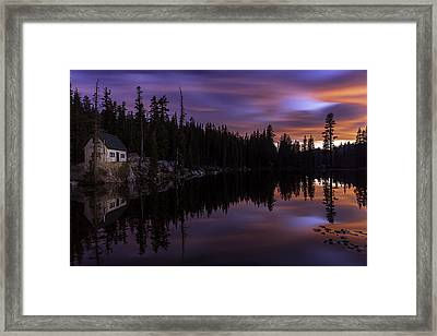 Mosquito Lake Sunset Framed Print