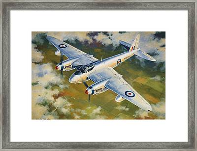 'mosquito Survey Flight' Framed Print by Colin Parker