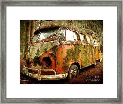 Moss Covered 23 Window Bus Framed Print by Michael David Sorensen