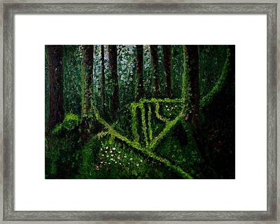 Moss-covered Roots Framed Print by Mats Eriksson