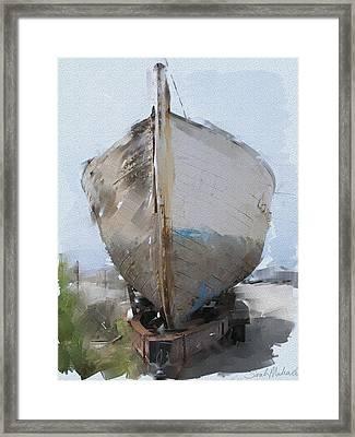 Moss Landing Boat Framed Print by Sarah Madsen