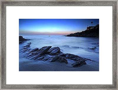 Moss Street Blue Framed Print by Gary Zuercher