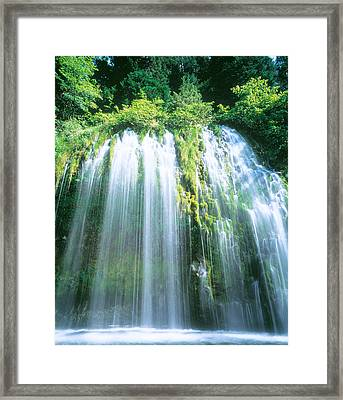 Mossbrae Falls Ca Usa Framed Print by Panoramic Images