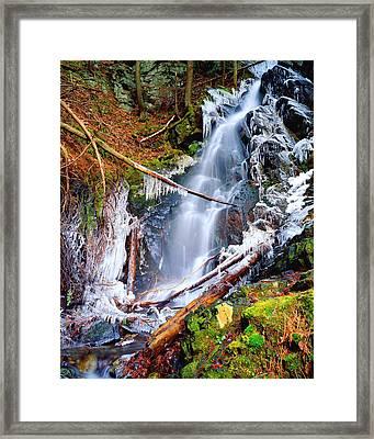Mossy Cascade Falls Framed Print