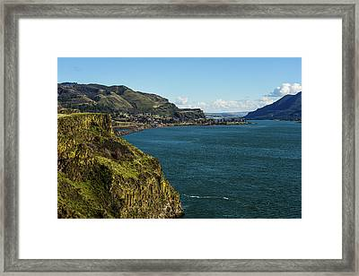 Mossy Cliffs On The Columbia Framed Print