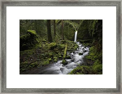 Mossy Grotto Falls Framed Print by Brian Bonham