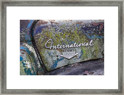 Mossy International Truck Framed Print