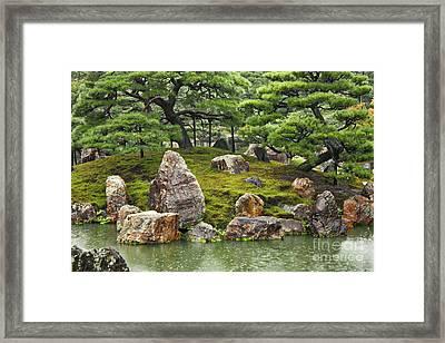 Mossy Japanese Garden Framed Print by Carol Groenen