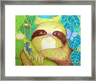 Mossy Sloth Framed Print