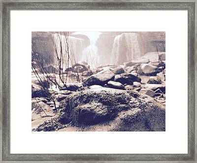 Mossy Stone Framed Print by Gage Kinkoph