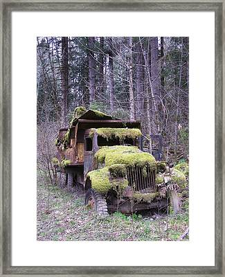 Mossy Truck Framed Print