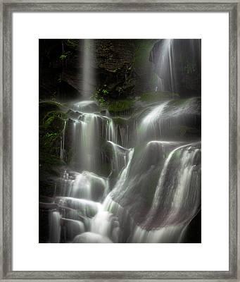 Mossy Waterfall Framed Print