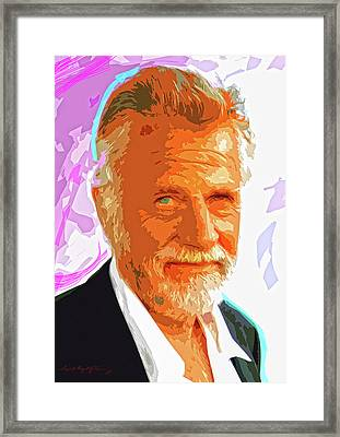 Most Interesting Man Framed Print by David Lloyd Glover