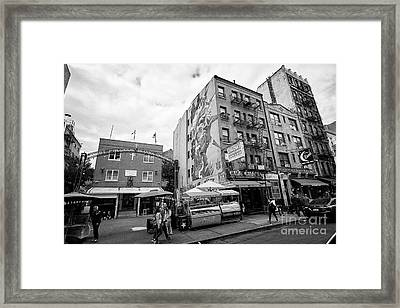 most precious blood church and shopping in little italy New York City USA Framed Print