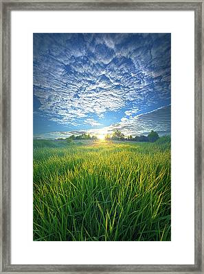 Most Quiet Need Framed Print