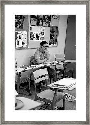 Most Scholarly Student, 1972 Framed Print