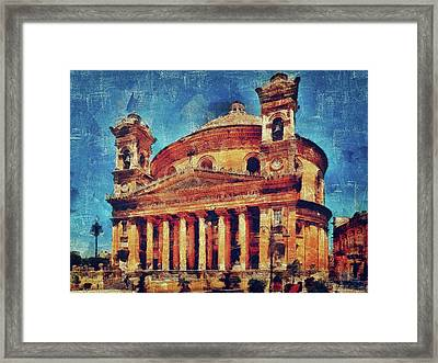 Mosta Church Framed Print