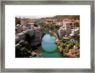 Mostar Framed Print by Blaz Gvajc