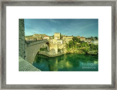 Mostar Bridge  Framed Print by Rob Hawkins