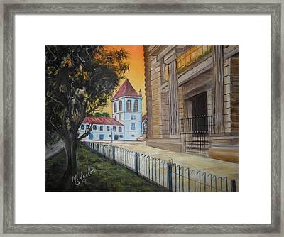 Mosteiro De Sao Bento Framed Print by Marcelo Carlos