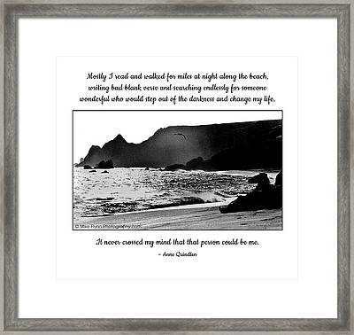 Mostly I Read And Walked Framed Print by Mike Flynn