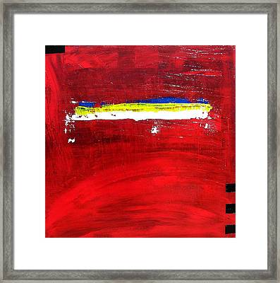 Framed Print featuring the painting Mostly Red by Carolyn Repka