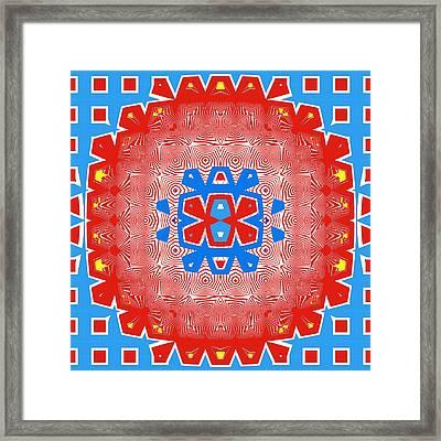 Mostly Red Framed Print by Susan Leggett