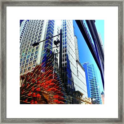 Mostly Reflections In Sydney Framed Print by Kirsten Giving