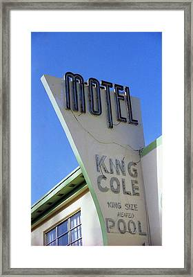 Framed Print featuring the photograph Motel King Cole by Matthew Bamberg