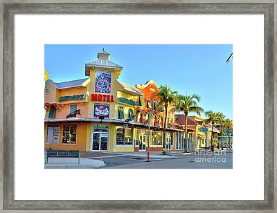 Motel On Fort Myers Beach Florida Framed Print