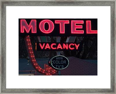 Motel-pink Framed Print