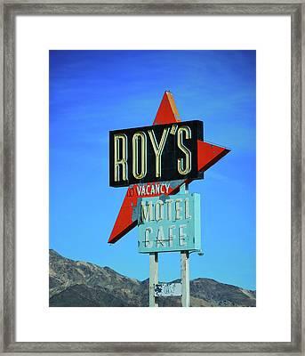 Motel Sign Framed Print by Rheann Earnest