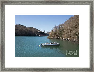 Mothballed On The River Fal Framed Print by Terri Waters