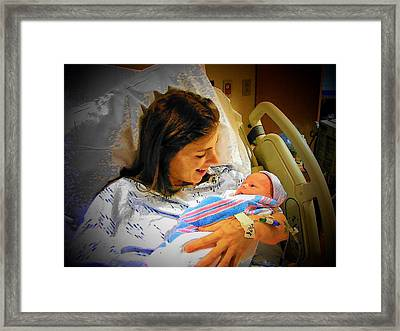 Mother And Babe Framed Print