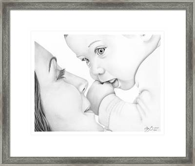Mother And Baby Framed Print by Olga Bell
