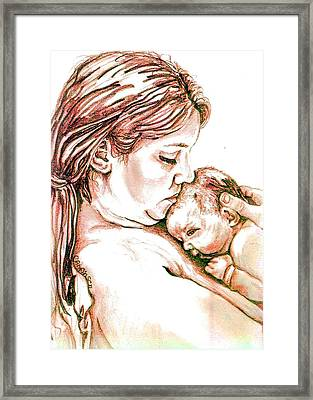 Mother And Child 1 Framed Print