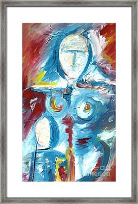 Mother And Child 2 Framed Print by Mimo Krouzian