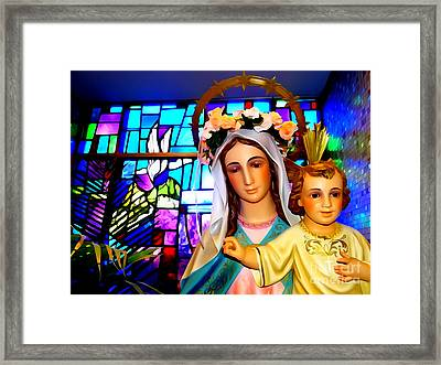 Mother And Child Beauty Framed Print