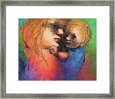 Mother And Child Framed Print by Claire  Szalay Phipps