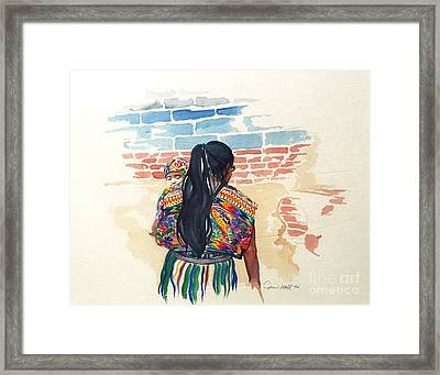 Mother And Child Framed Print by Donna Newsom