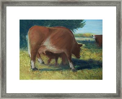 Mother And Child Framed Print by Jackie Bush-Turner