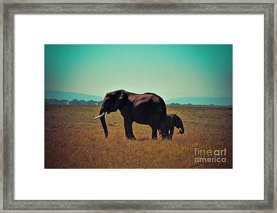 Framed Print featuring the photograph Mother And Child by Karen Lewis
