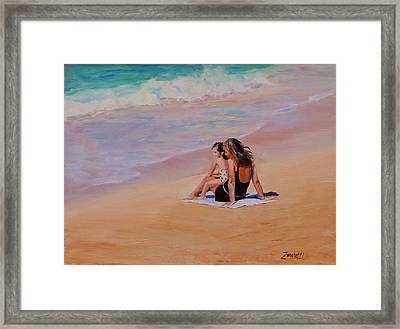 Mother And Child Framed Print by Laura Lee Zanghetti