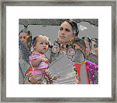 Mother And Child Framed Print by Laurie Prentice