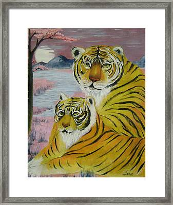 Mother And Child  Framed Print by Lian Zhen