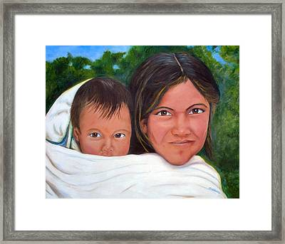 Mother And Child Framed Print by Merle Blair