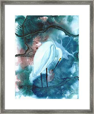 Mother And Child Framed Print by Mui-Joo Wee