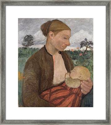 Mother And Child Framed Print by Paula Modersohn Becker